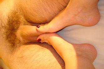 My ex girlfriend dominates with her feet