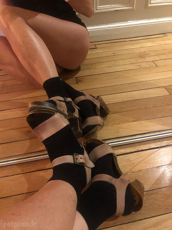 My wife dresses like a whore with sandals and socks