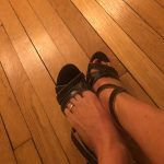 My wife with a toe ring